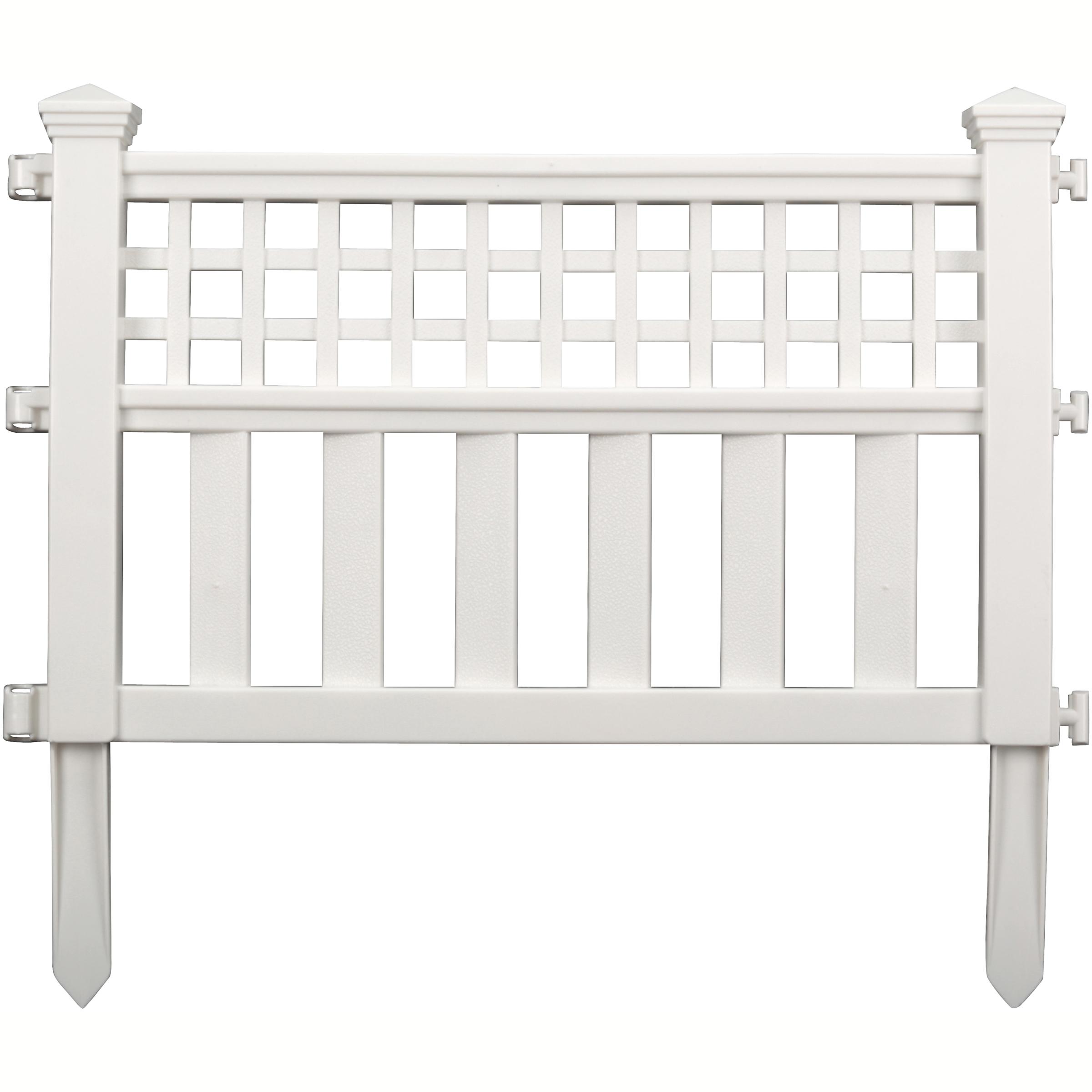 Suncast Grand View Fence, 3-Pack, White GVF243PK