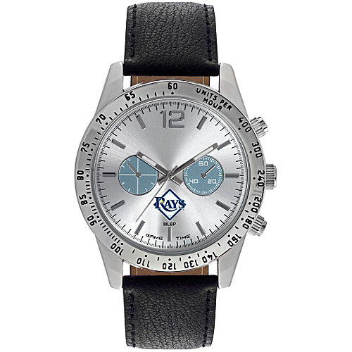 Gametime Men's Game Time Letterman Series MLB Tampa Bay Rays (One Size), stainless steel (leather)