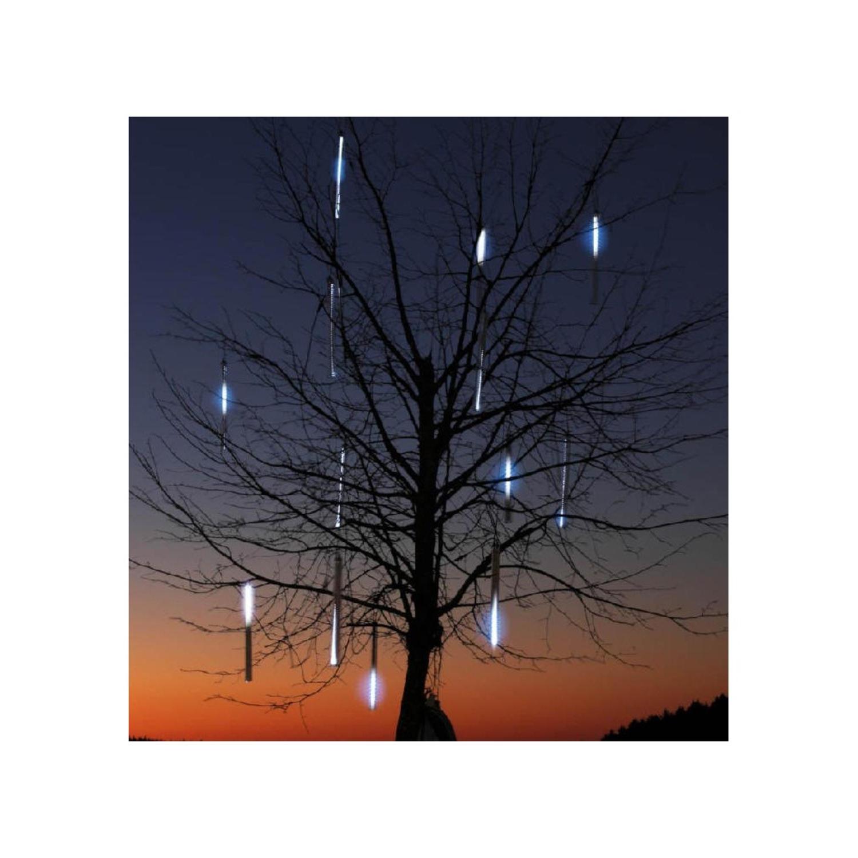 """Set of 10 Dripping Icicle Snowfall Christmas Light Tubes 9"""""""