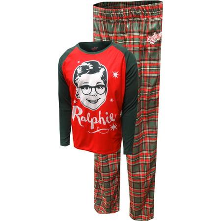 Christmas Story Grinning Ralphie Men's Pajamas - A Christmas Story Pajamas