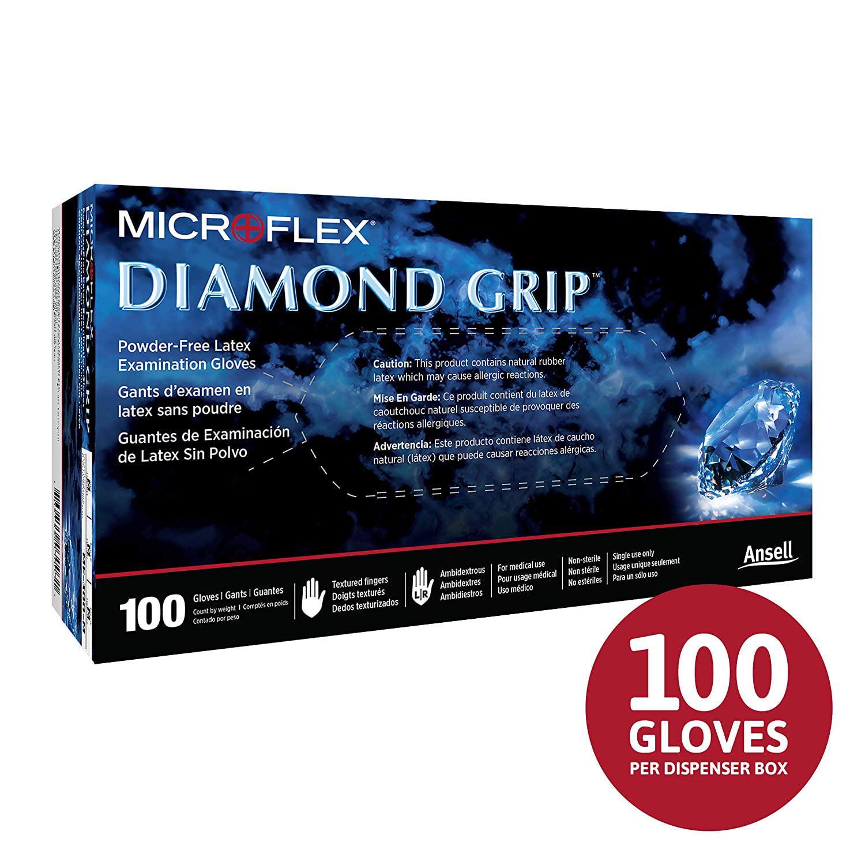 100PK MICROFLEX L494 Natural Rubber Latex Disposable Gloves XL