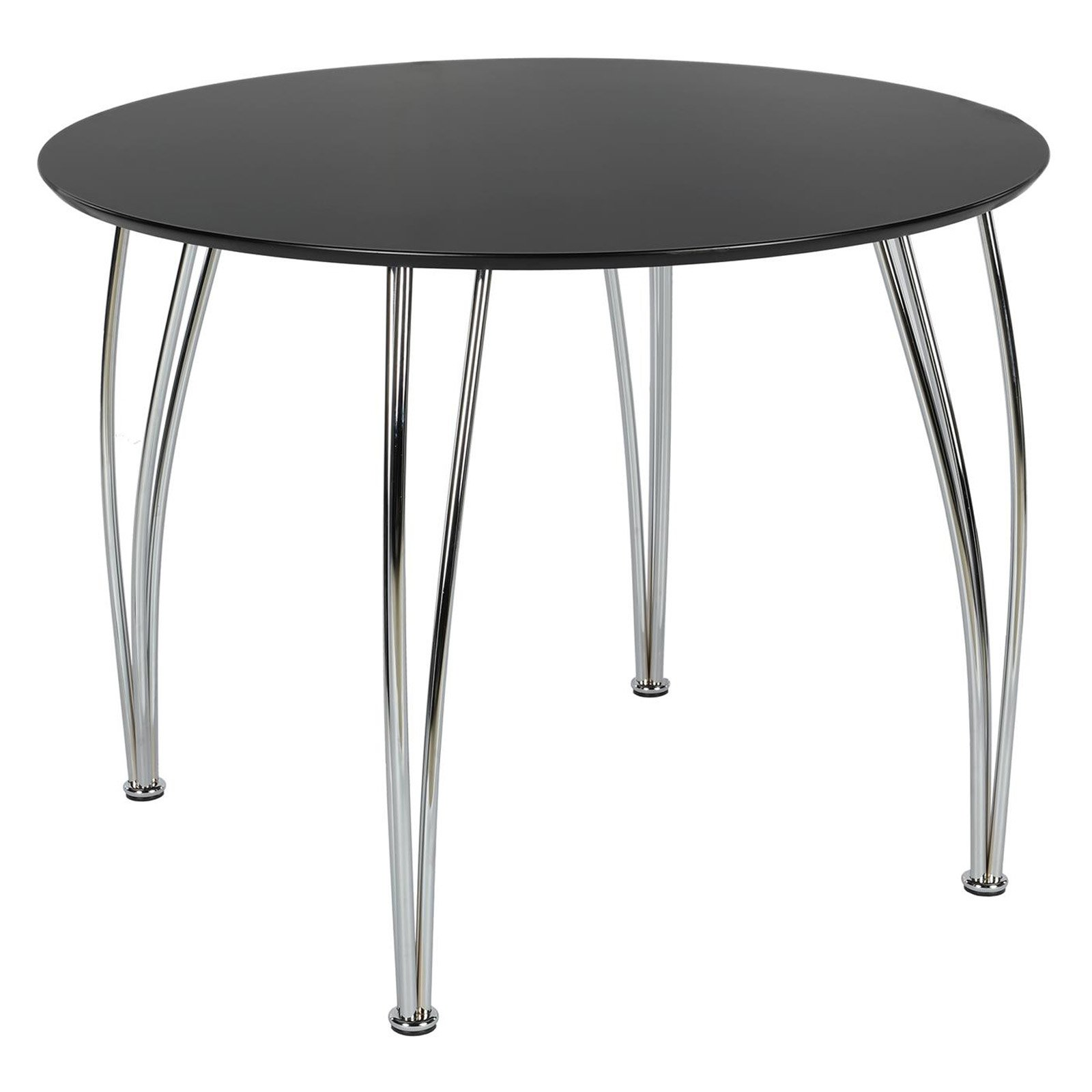 DHP Round Dining Table with Chrome Legs by DHP