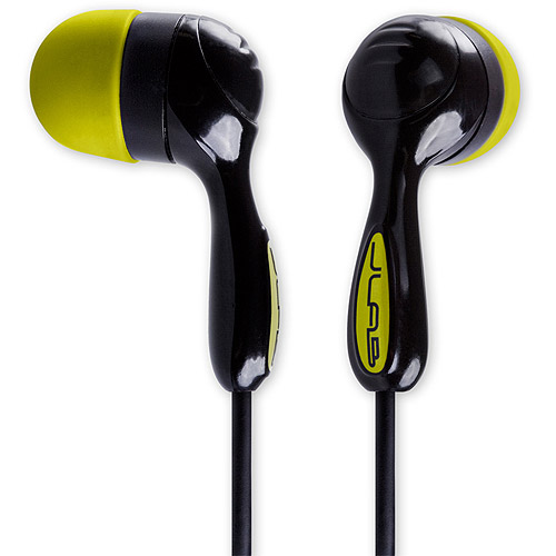 jlab audio jbuds hi-fi noise-reducing ear buds, guaranteed for life - black/yellow