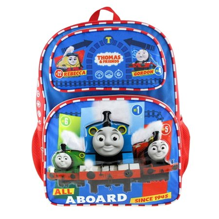 "Backpack - Thomas The Train - All Aboard 16"" New 008741"