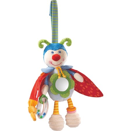 HABA Play Figure Beetle Bodo - Rattling, Rustling & Bouncing Plush Activity Toy for Ages 6 Months + Haba Soft Toys