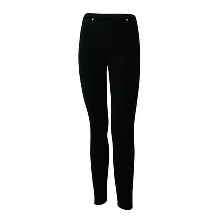 4932a3db5378c Style & Co. Women's Petite Corduroy Leggings (PS, Deep Black) - Walmart.com