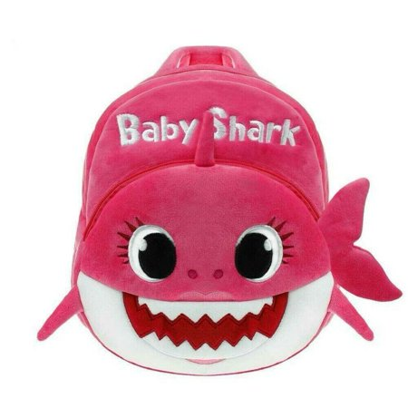 BABY SHARK BACKPACK PLUSH CARTOON ANIMAL BAG FOR CHILDREN SCHOOLS KIDS BAG - PINK