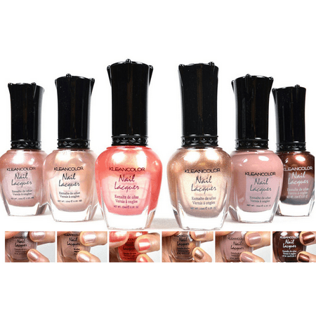 - Kleancolor 6 Nail Polish Natural Nude Beige Colors Set ! Lacquer Collection