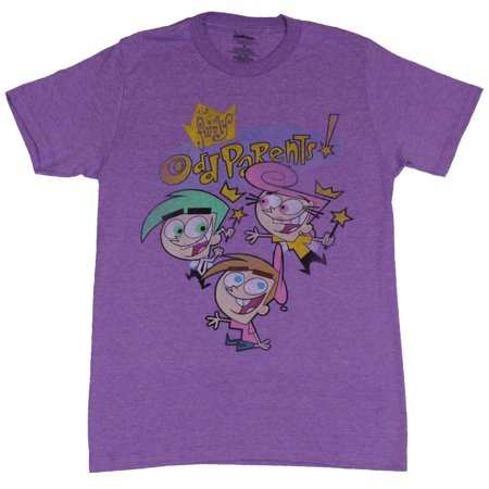 Fairly Odd Parents Mens T-Shirt - Smiling Cosmo Wanda & Timmy