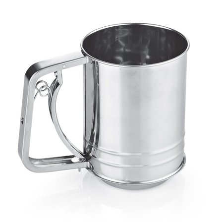Cook N Home Stainless Steel 3-Cup Flour Sifter by