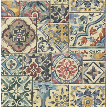 Brewster Marrakesh Multicolor Global Tiles Wallpaper