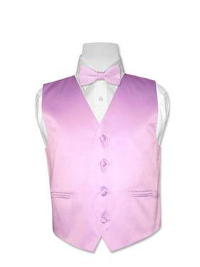 Covona BOY'S Dress Vest BOW TIE Solid LAVENDER PURPLE Color BowTie Set sz 10