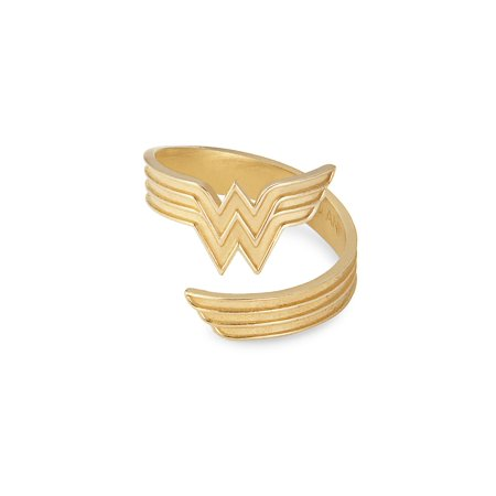 Wonder Woman Ring Wrap 14kt Gold Plated New With Tag Box and Card