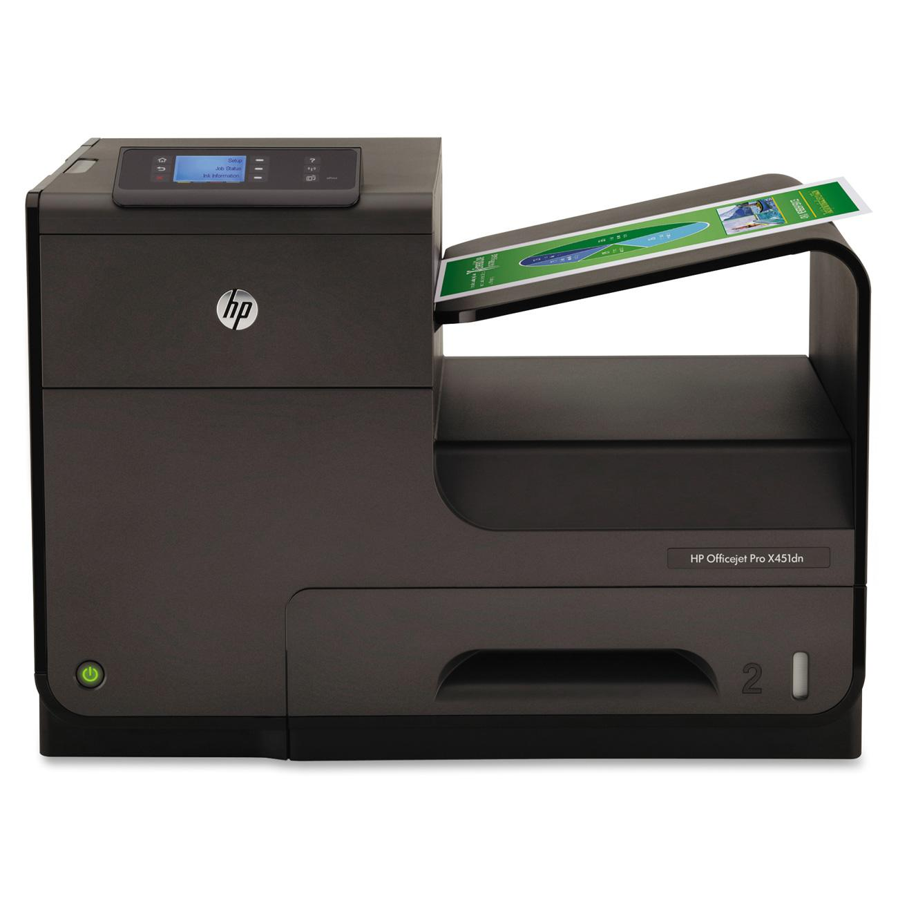 Hewlett Packard Officejet Color Pro X451DN Inkjet Printer, REFURBISHED HEWCN459AREFB by HP