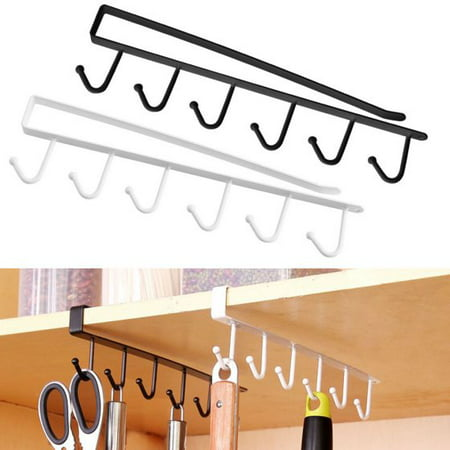 - YOSOO Multifunction Kitchen Storage Rack Cupboard Shelf Hanging Hook Wardrobe Organizer Holder Space Saver Organizer Hook Rack Holder (White)