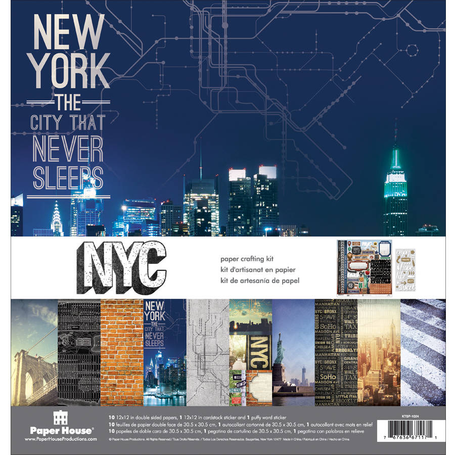 "Paper House Paper Crafting Kit, 12"" x 12"", New York City"
