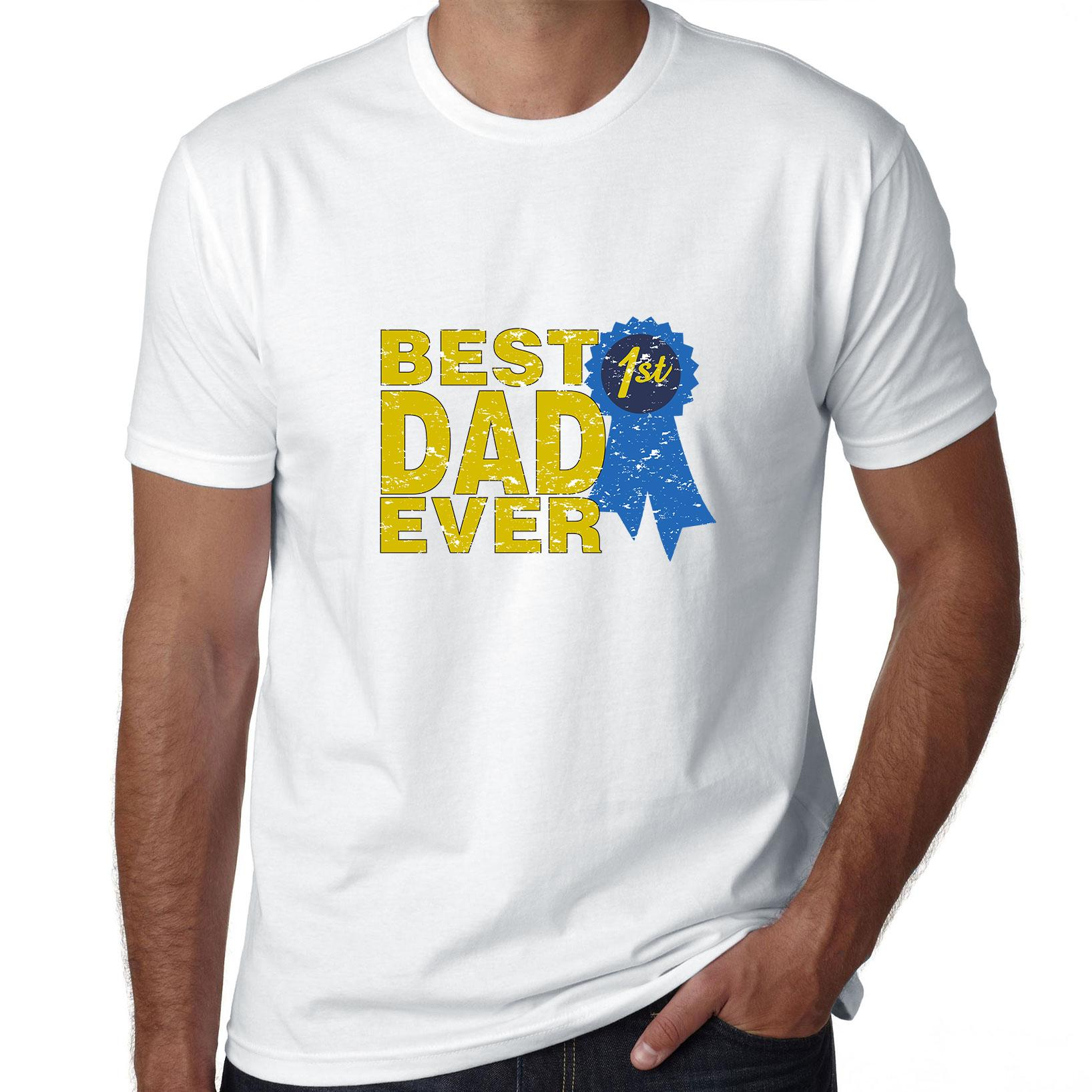 Best Dad Ever - First Place Ribbon Prize Men's T-Shirt