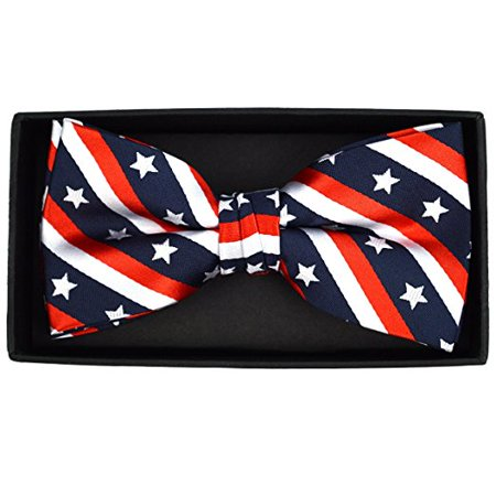 Men's USA Flag 4th of July Novelty Bow Tie
