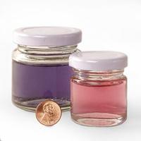 72ea - 3-3/8 Oz Small Standard Glass Jar W/Lavender Lid by Paper Mart