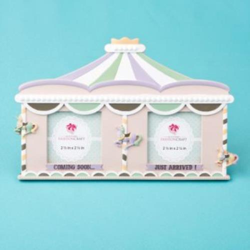 Fabulous Circus tent double frame - Sonogram - Birth  pack of 15