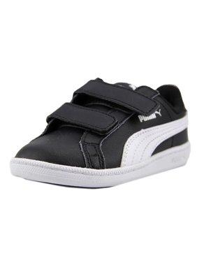 3aced468fa52 Product Image Puma Puma Smash FUN Toddler Round Toe Leather Black Sneakers