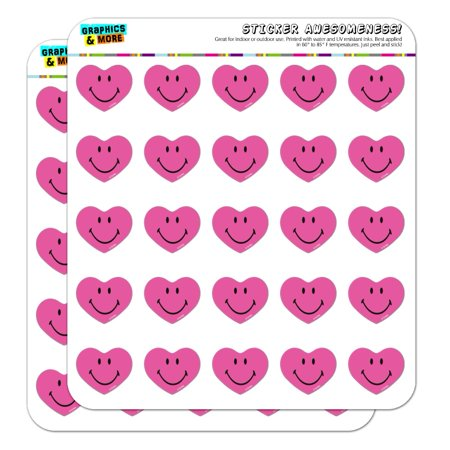 Smiley Smile Happy Pink Heart Love Romantic Face 1