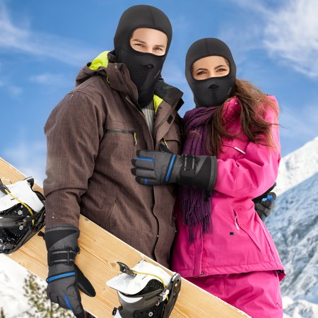 Ski Gloves Weather Proof, The Warmest 3M Insulation Waterproof Winter Snowboard Mittens with Free Breathable Face Mask for Men and Women Outdoor Sports ()