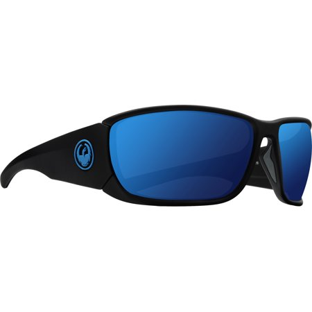 Dragon Tow In Sunglasses Matte Black H2O/Blue Ion Polar Lens (Dragon Lenses)