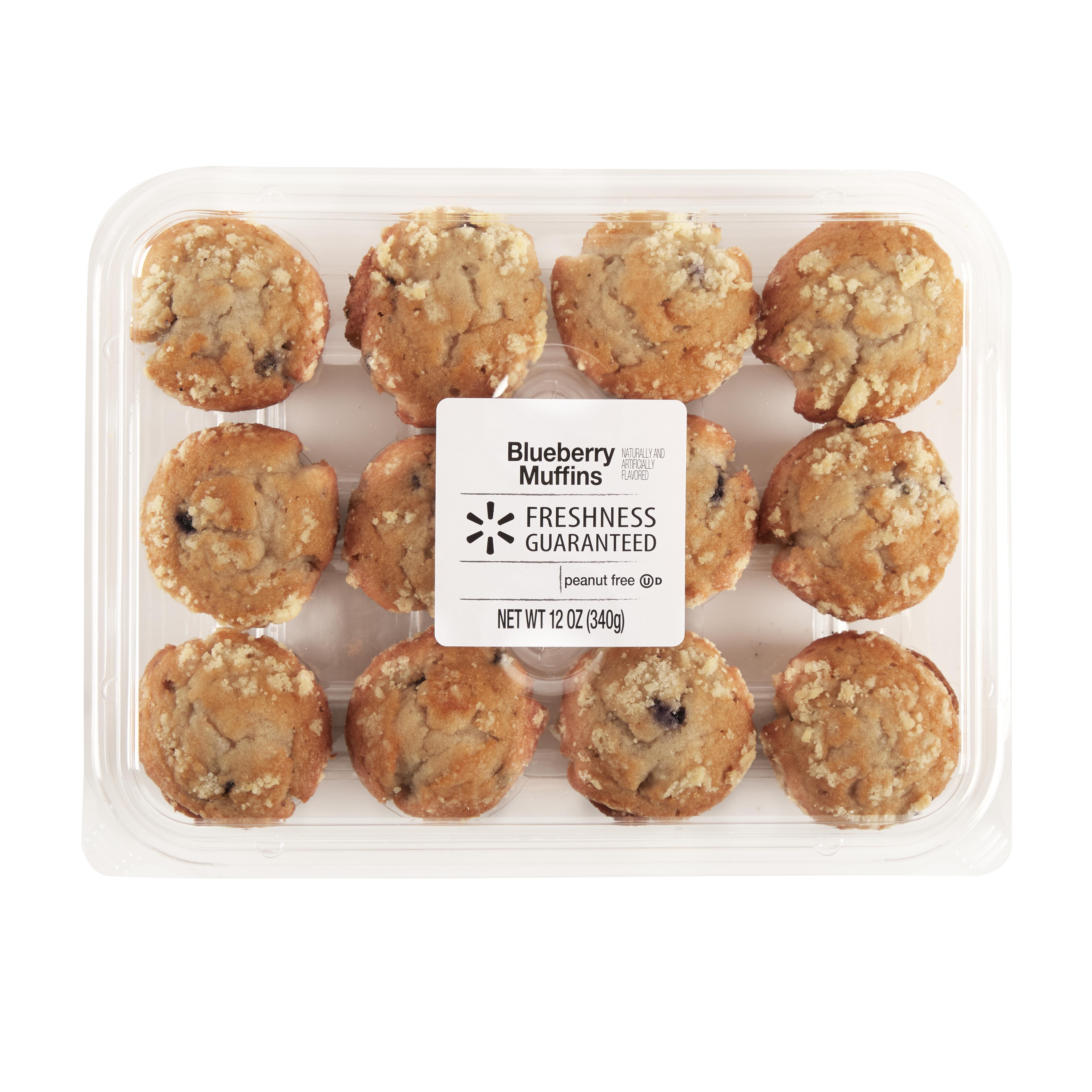The Bakery at Walmart Mini Blueberry Muffins, 12 oz
