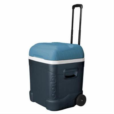 Maxcold 70 QT 101 Can Capacity Ice Blue Roller Cooler Push Button
