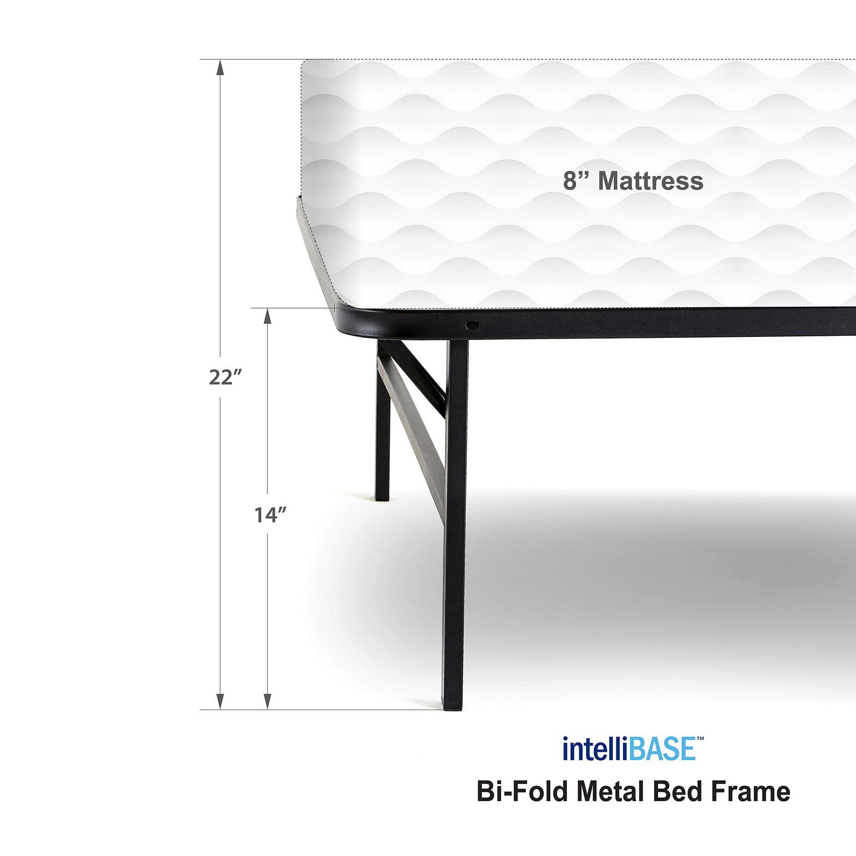 intelliBASE Lightweight Easy Set Up Platform Metal Bed Frame, Queen (3 Pack)