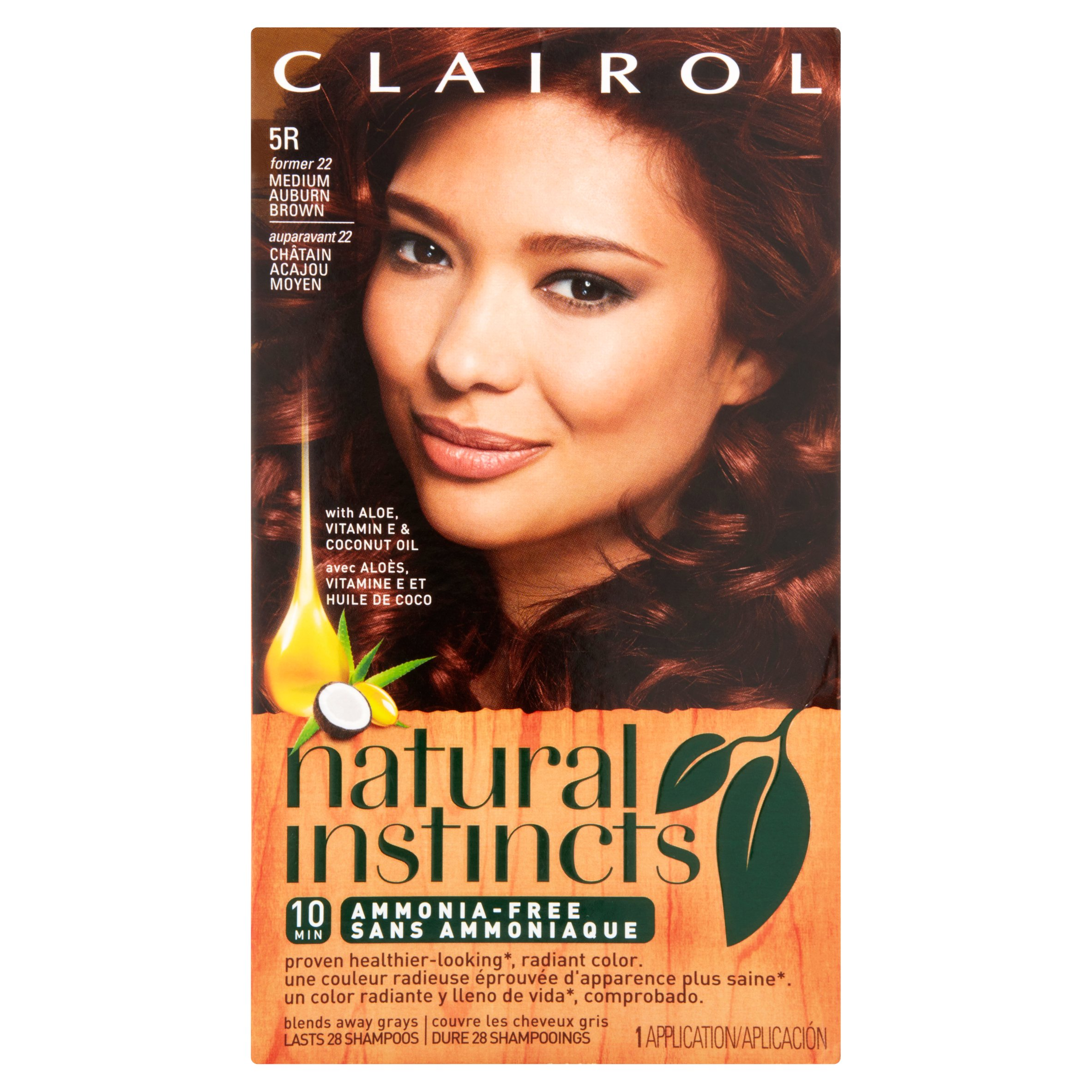 Clairol Natural Instincts Ammonia-Free Hair Color, Light Golden Brown, 1 Kit