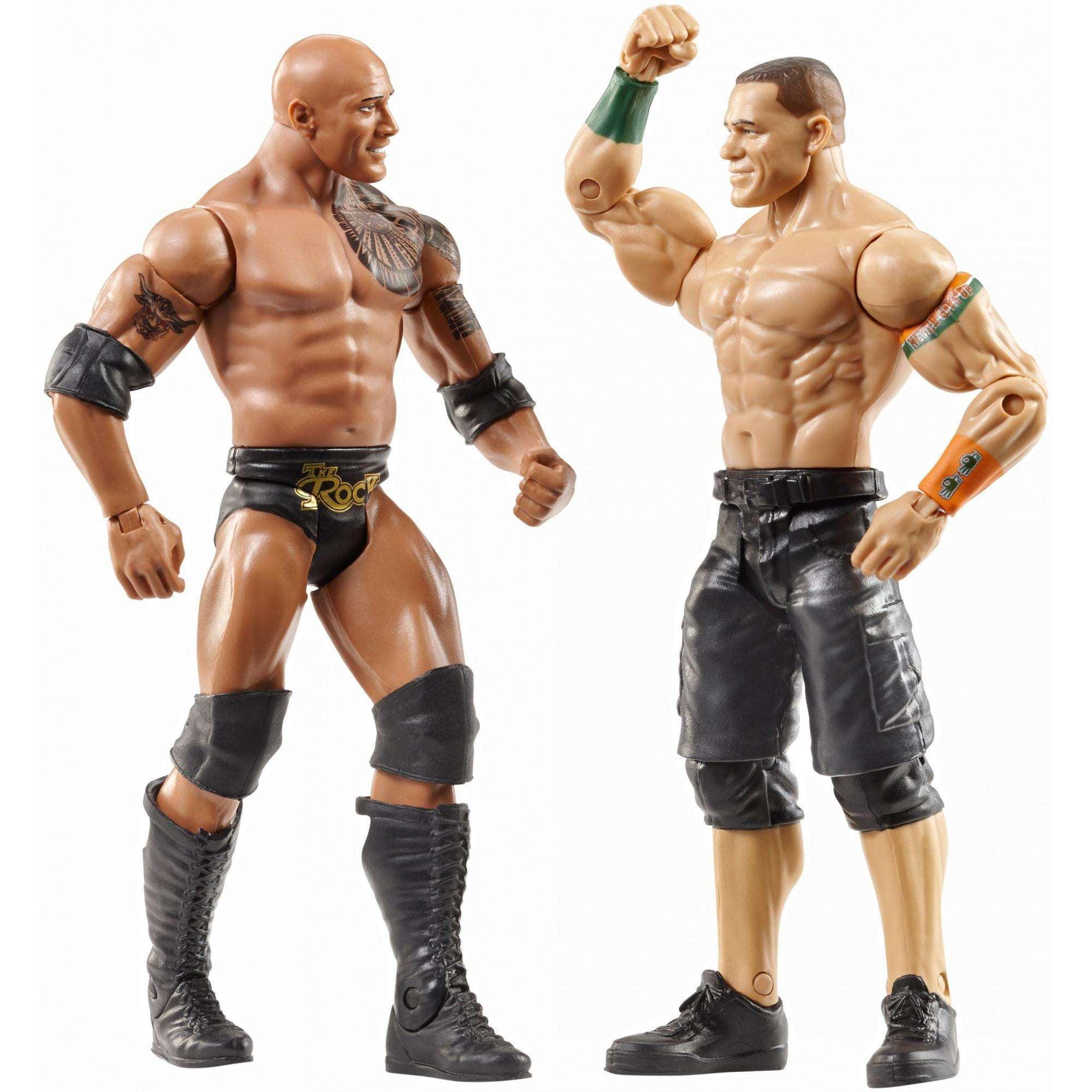 Lot of two WWE minifigures The Rock /& John Cena