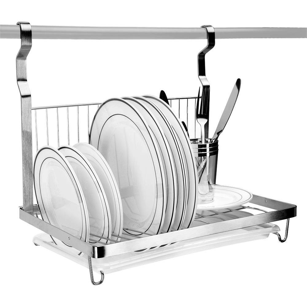 Dish Drying Rack Wall Mount Organizer Stainless Steel Dish Drainer