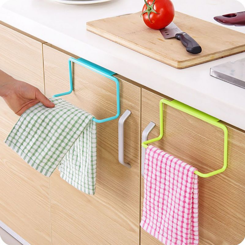 Kitchen Bathroom Towel Holder Rack Door Cabinet Back Hanging Organizer    Walmart.com