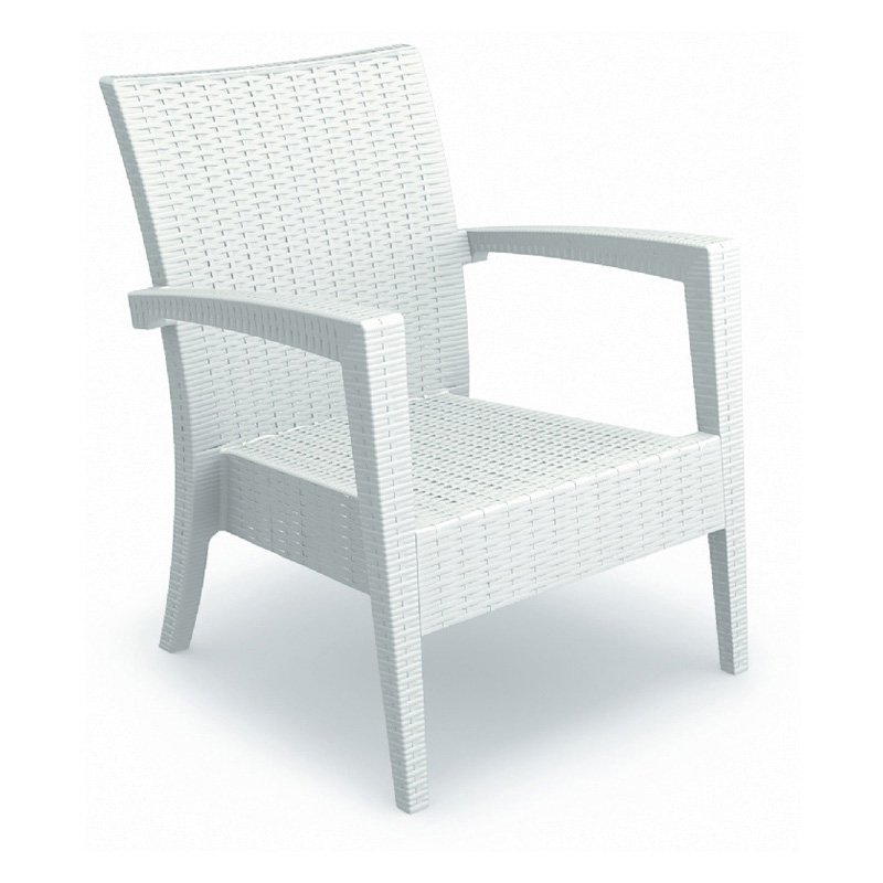 Compamia ISP850-WH Miami Resin Club Chair White Set of 2 by Compamia