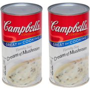 (2 Pack) Campbell's Condensed Family Size Cream of Mushroom Soup, 22.6 oz.