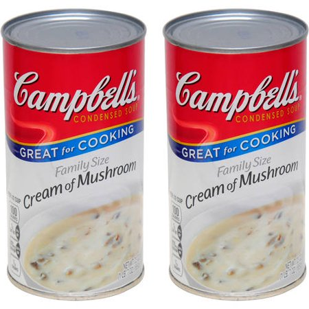 (2 Pack) Campbell's Condensed Family Size Cream of Mushroom Soup, 22.6 - Gold Trim Cream Soup