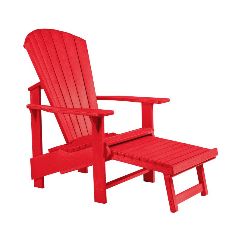 CR Plastic Products Generations Upright Adirondack Pull Out Footstool