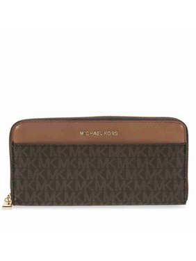 5da4957d4dcfe Product Image Mercer Signature Logo Wallet - Brown. Michael Kors