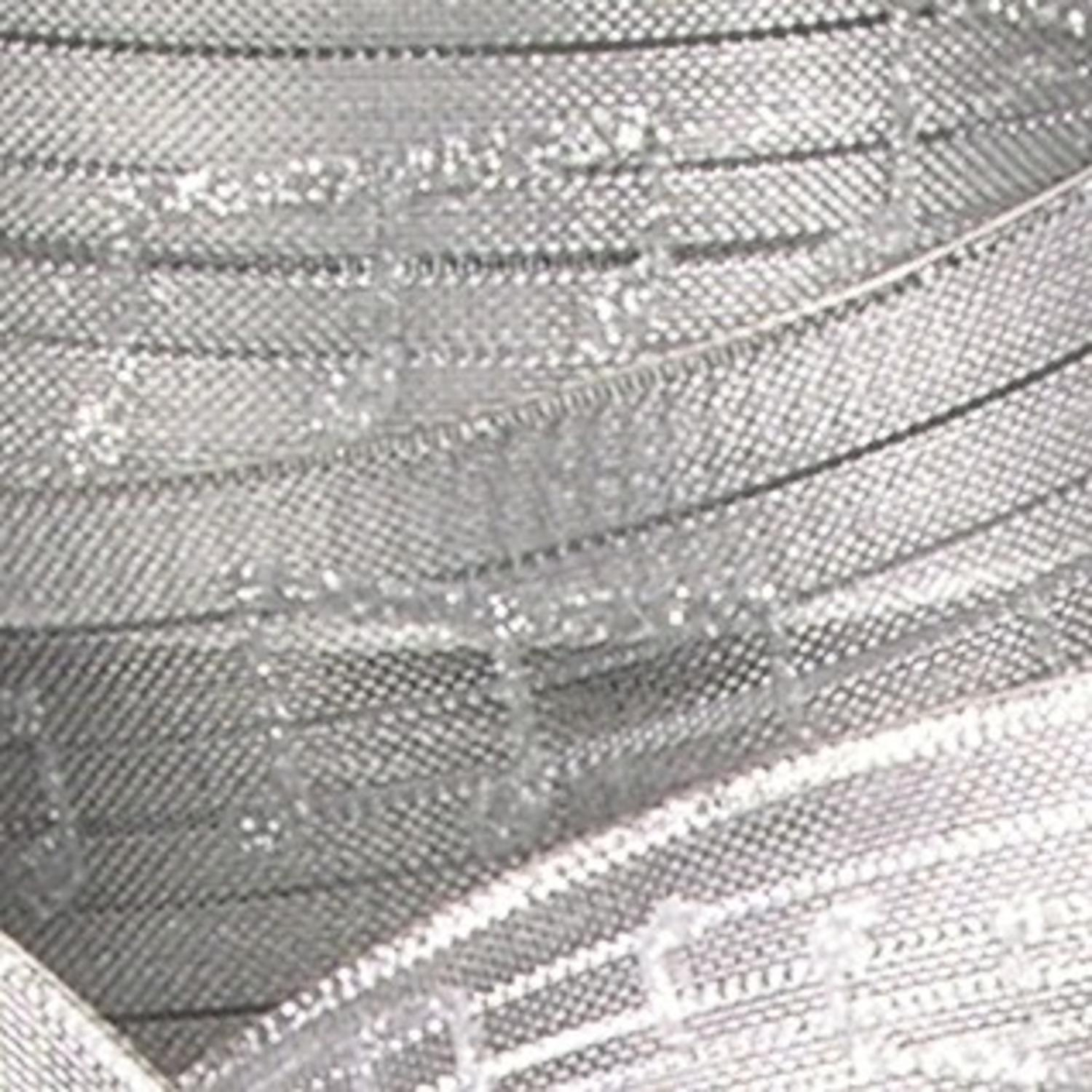 "Silver Metallic Music Notes French Wired Craft Ribbon 1.5"" x 27 Yards"