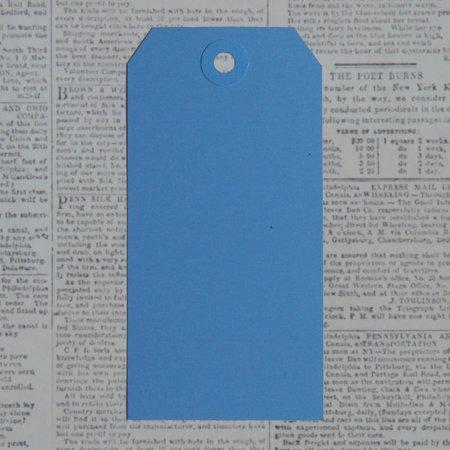 Manila Shipping Tags #2 12/Pkg-Robin Blue, 1.625 Inch X 3.25 Inch