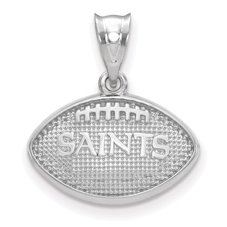 New Orleans Saints Sterling Silver Football Pendant - No Size