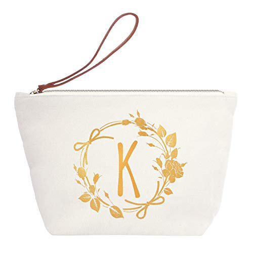 K Initial Makeup Bag Cosmetic Pouch