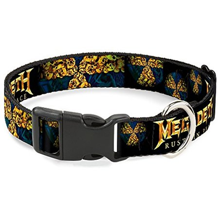 Plastic Clip Collar - Scooby Doo Stacked CLOSE-UP Black - WIDE-Medium 16-23