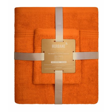 High Quality Bath (HURBANE premium 6 Piece 550 GSM 2 ply 100% Cotton high quality Luxury Towel Set with 2 Bath Towels, 2 Hand Towels, 2 Wash Cloth, better than 5 Star Hotel)