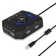 Sunisery Multifunction USB HUB Converter Adapter With 3.5mm Jack And Microphone