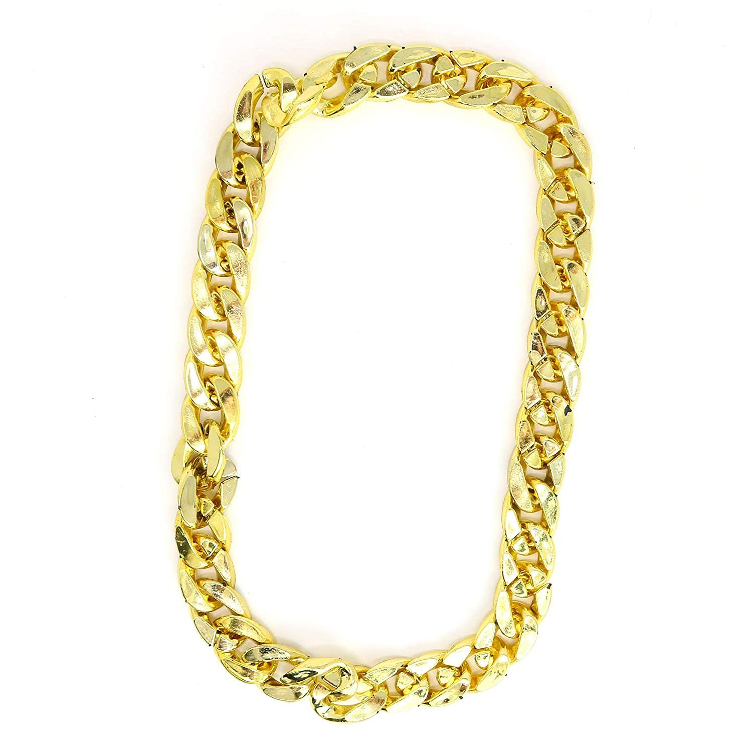 Skeleteen Rapper Gold Chain Accessory - 90s Hip Hop Fake ...