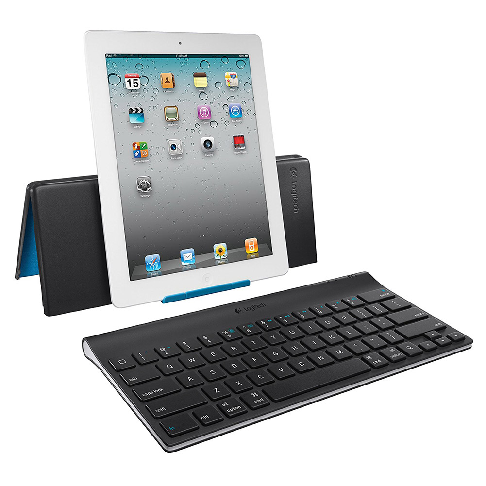 Logitech Bluetooth Keyboard for iPad with Adjustable Stand, Refurbished
