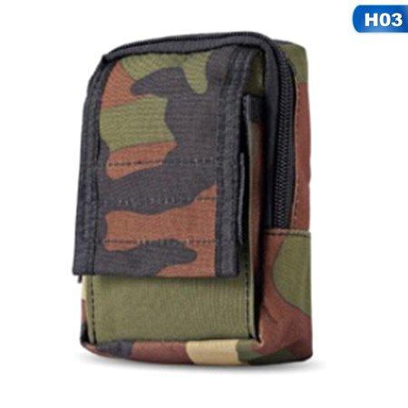 SHOPFIVE Multifunctional 1000D Outdoor Military Tactical Waist Bag Edc Molle Tool Zipper Waist Pack Accessory Durable Belt Pouch (Edc Military)